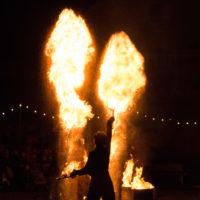acroballes spectacles de feu mécanikoum Uffholtz